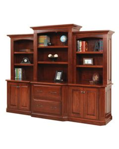 "Buckingham 98"" Base & Three-Piece Hutch"