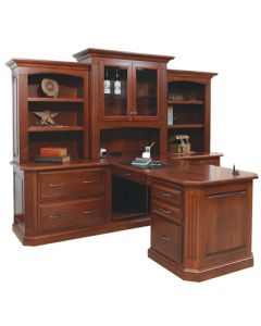 Buckingham Partner Desk & Three Piece Hutch
