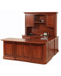 Buckingham U-Shape Desk & Hutch