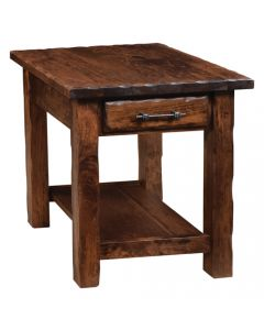 Hand Hewn End Table