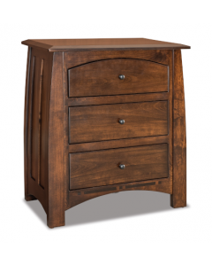 Boulder Creek 3 Drawer Nightstand