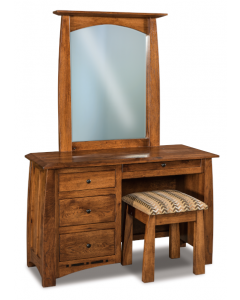 Boulder Creek 4 Drawer Vanity Dresser & Mirror W/ Bench