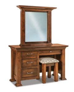 Empire 4 Drawer Vanity Dresser & Mirror W/ Bench