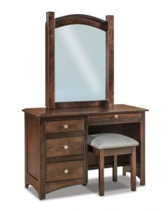 Finland 4 Drawer Vanity Dresser & Mirror W/ Bench