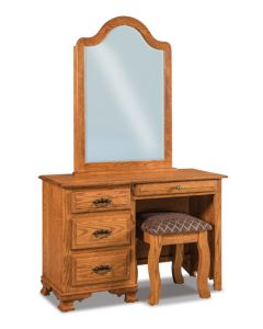 Heritage 4 Drawer Vanity Dresser & Mirror W/ Bench