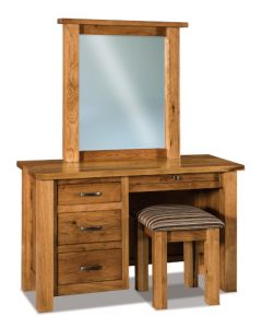 Heidi 4 Drawer Vanity Dresser & Mirror W/ Bench
