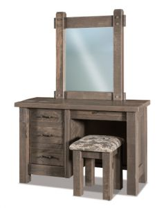 Houston 4 Drawer Vanity Dresser & Mirror W/ Bench