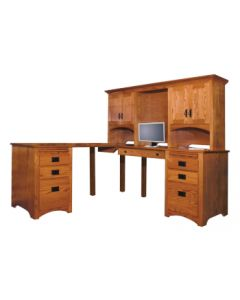 Mission Corner Desk & Hutch