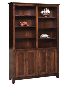 "48"" Shaker Bookcase With Doors"