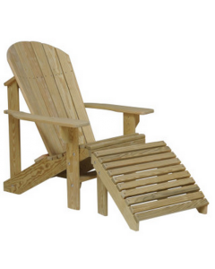 Treated Adirondack Chair w/ Foot Rest
