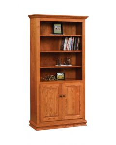 "36"" Traditional Bookcase With Doors"