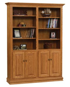 "48"" Traditional Bookcase With Doors"